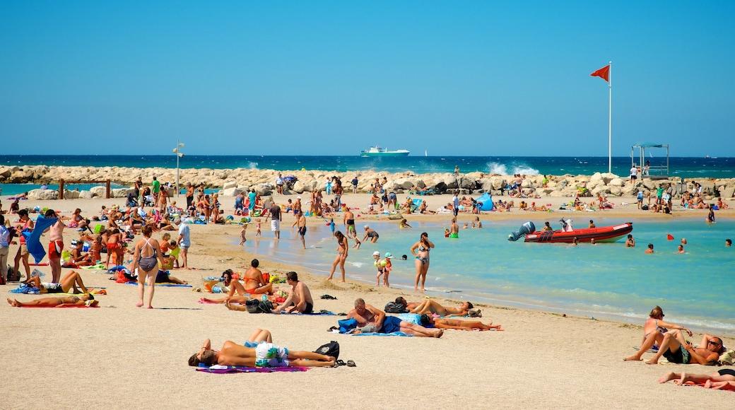 Borely Strand mit einem allgemeine Küstenansicht, Schwimmen und Strand