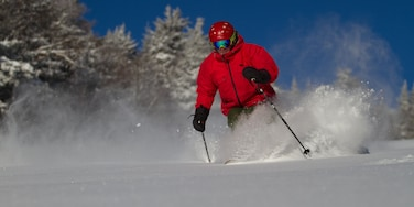 Killington Ski Resort featuring snow and snow skiing as well as an individual male