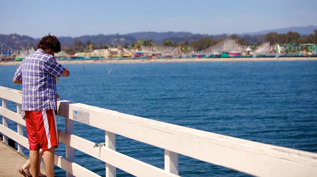Santa Cruz showing general coastal views and views as well as an individual male