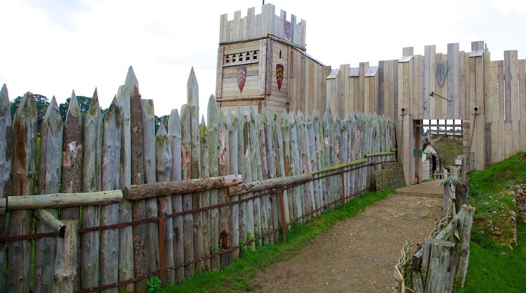 Château de Mountfitchet mettant en vedette château, patrimoine architectural et patrimoine historique