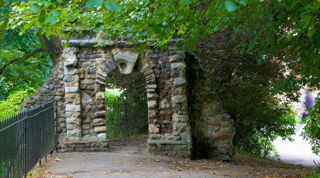 Colchester Castle Park which includes a park
