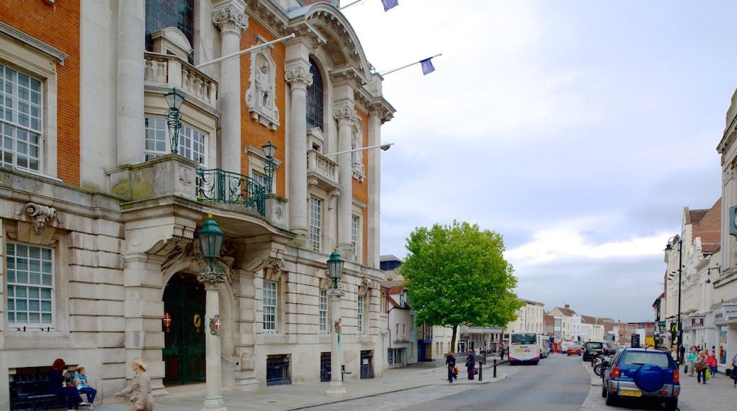 Colchester welches beinhaltet historische Architektur