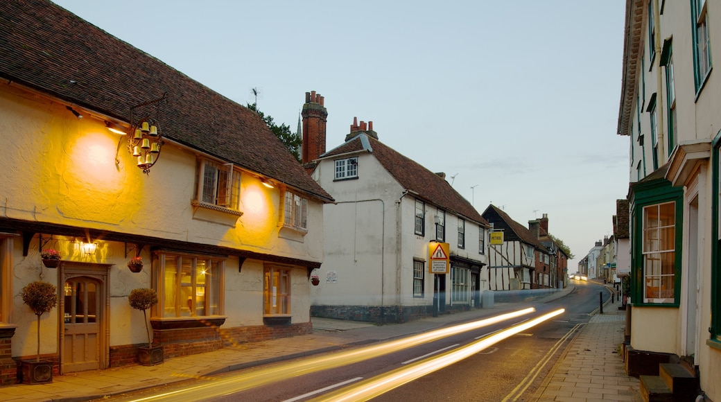 Saffron Walden featuring a house, street scenes and a city