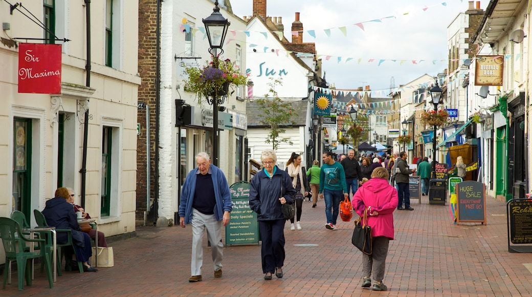 Waltham Abbey which includes a small town or village as well as a large group of people