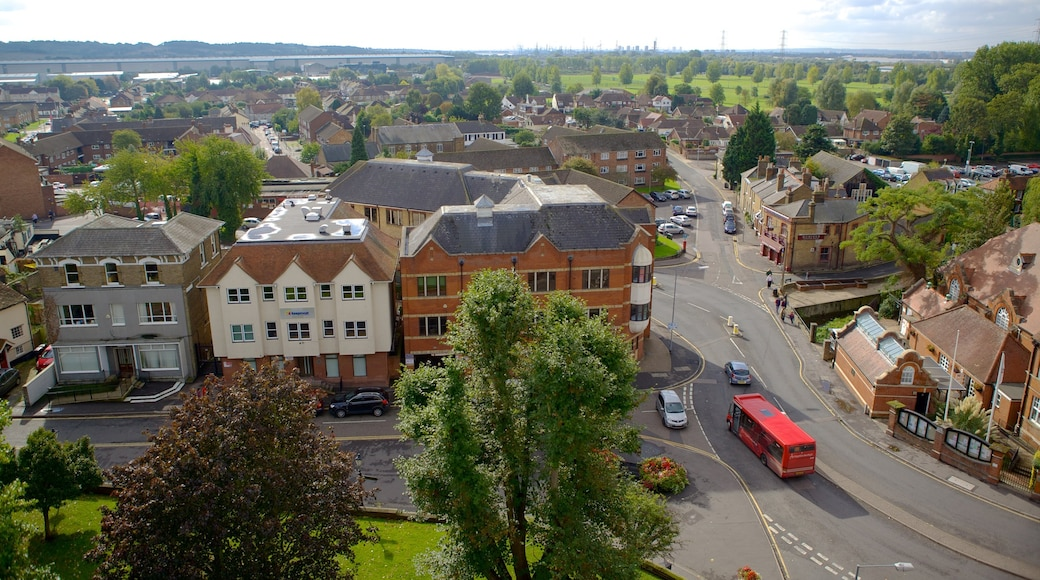 Waltham Abbey which includes street scenes and heritage architecture
