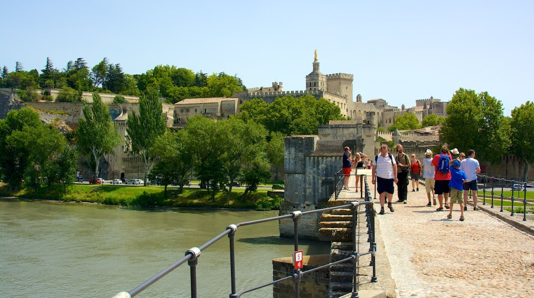 Pont d\'Avignon featuring heritage architecture and a river or creek
