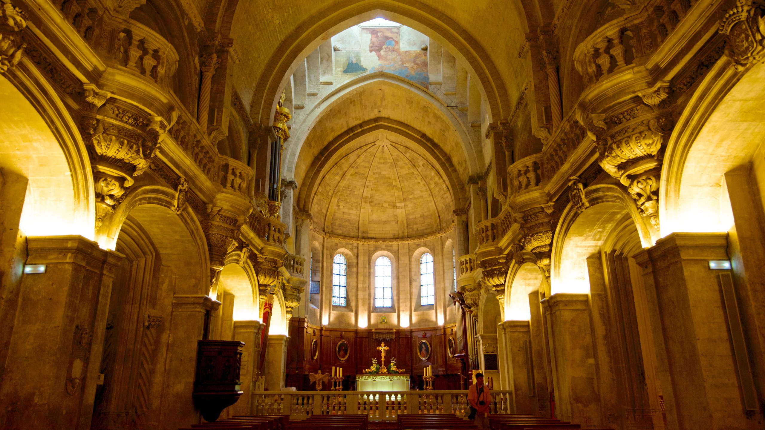 Celebrate mass in this resting place of 14th-century popes, or simply visit to enjoy the spiritual and artistic treasures within this beautiful Romanesque cathedral.