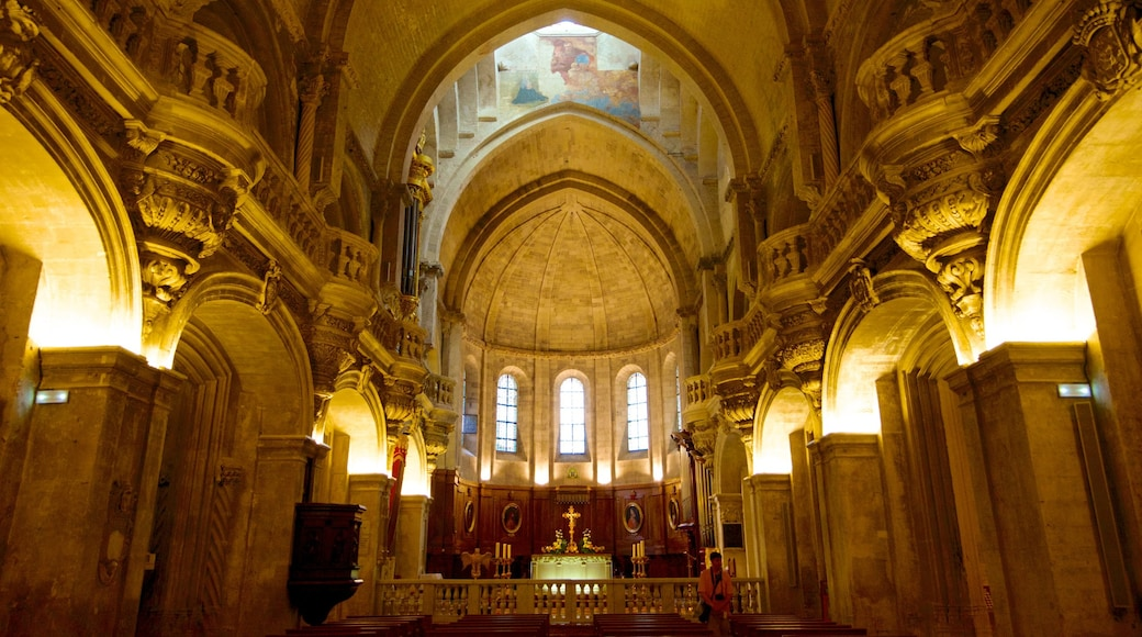 Avignon Cathedral showing a church or cathedral, heritage architecture and religious aspects