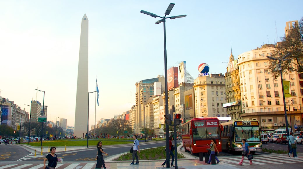 Obelisco featuring modern architecture, a city and street scenes