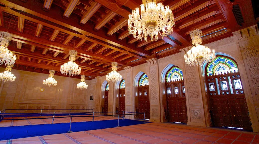Muscat das einen Innenansichten, historische Architektur und Moschee