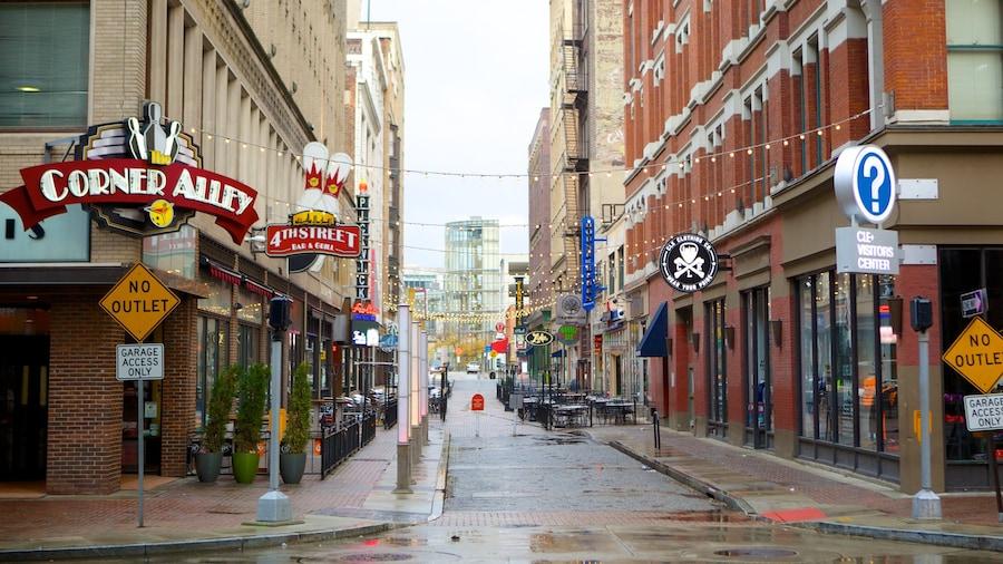 Cleveland showing shopping and signage