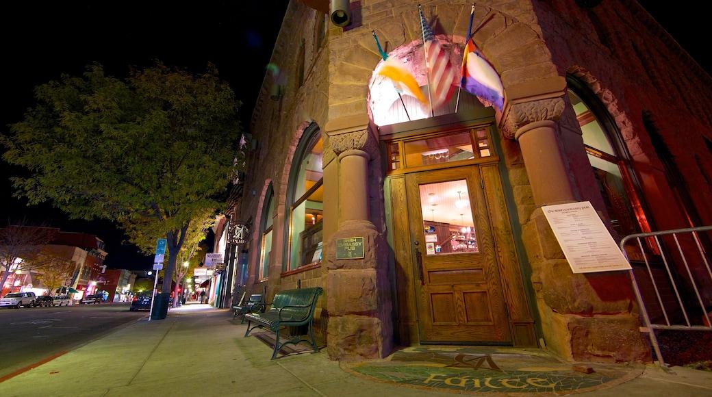 Durango - Purgatory mostrando arquitectura patrimonial y escenas de noche