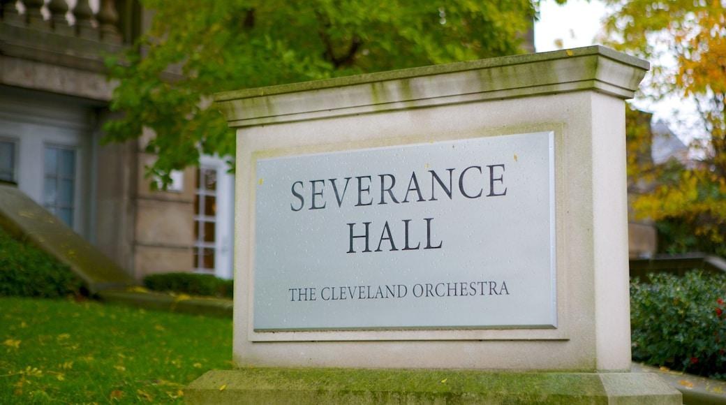 Severance Hall showing signage