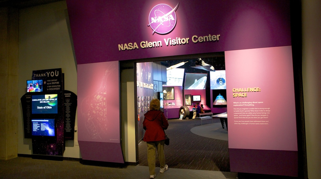 Great Lakes Science Center which includes interior views and signage