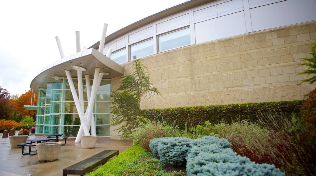 Cleveland Botanical Garden which includes a garden and modern architecture