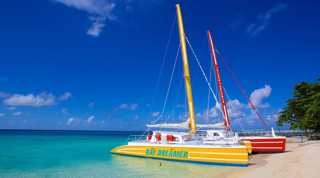 Montego Bay which includes a sandy beach, general coastal views and sailing