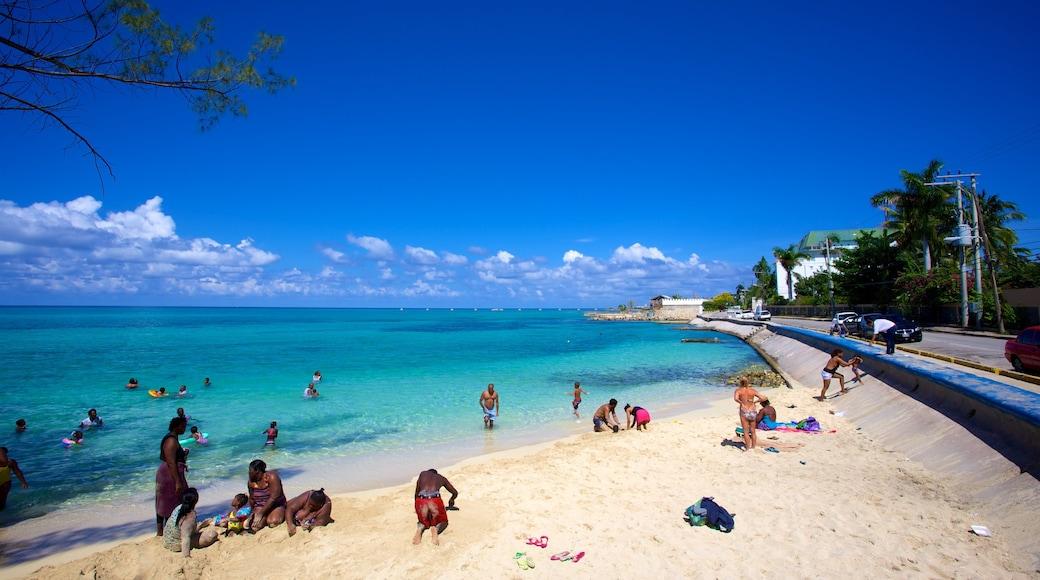 Montego Bay showing general coastal views, a beach and a coastal town