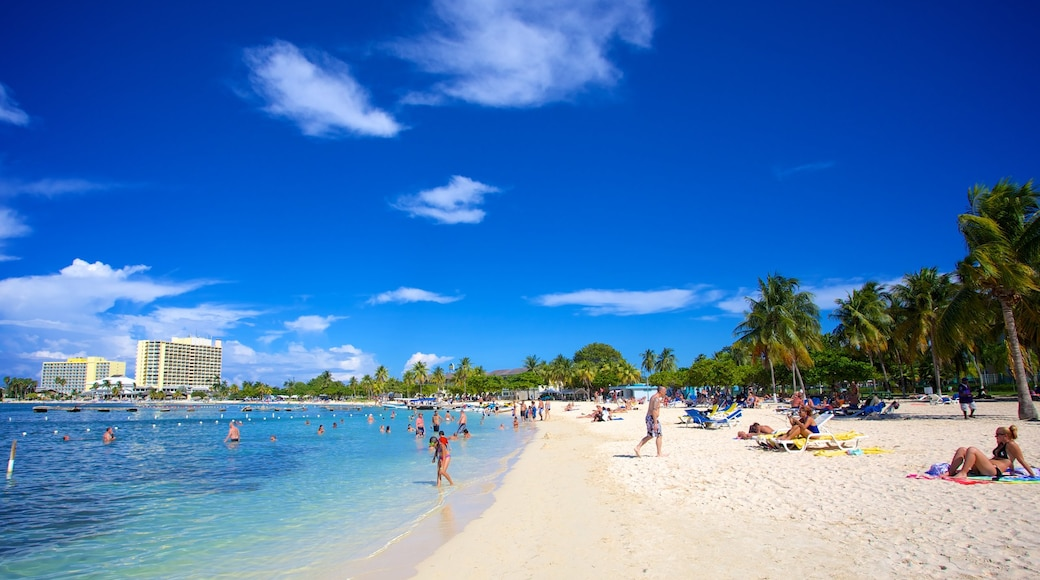 Ocho Rios featuring a beach, tropical scenes and swimming