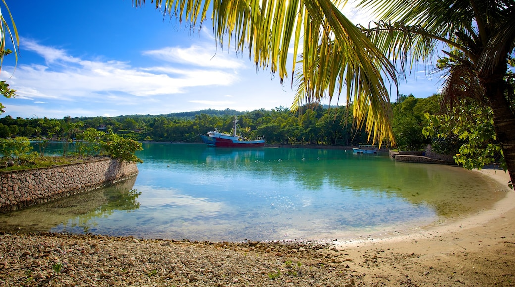 James Bond Beach featuring tropical scenes, a beach and boating