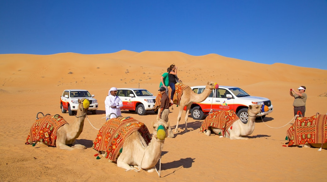 Dubai Desert which includes vehicle touring, desert views and land animals