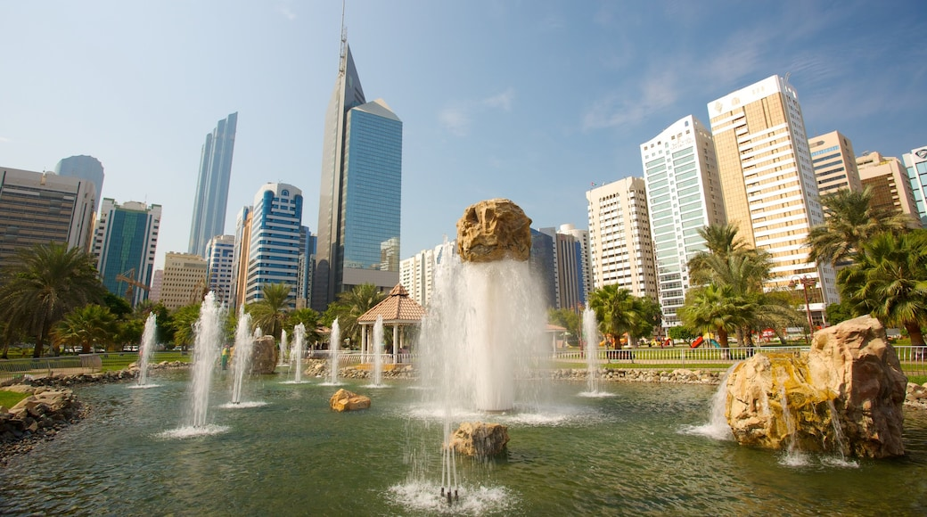 Capital Garden which includes a city, a fountain and modern architecture