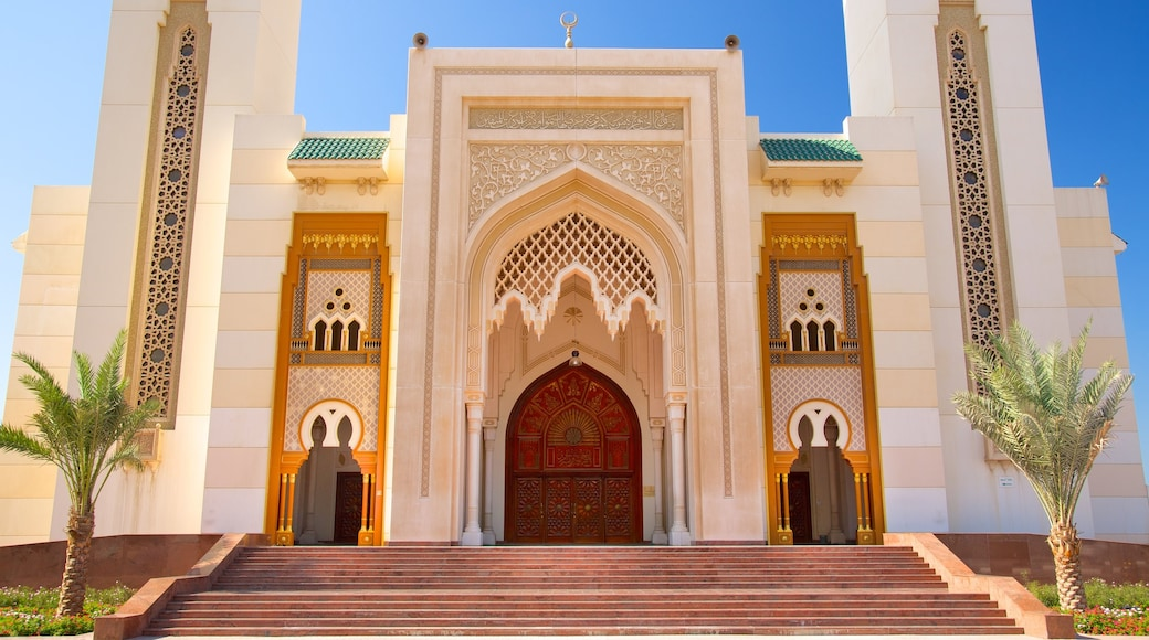 Sharjah which includes religious aspects and a mosque
