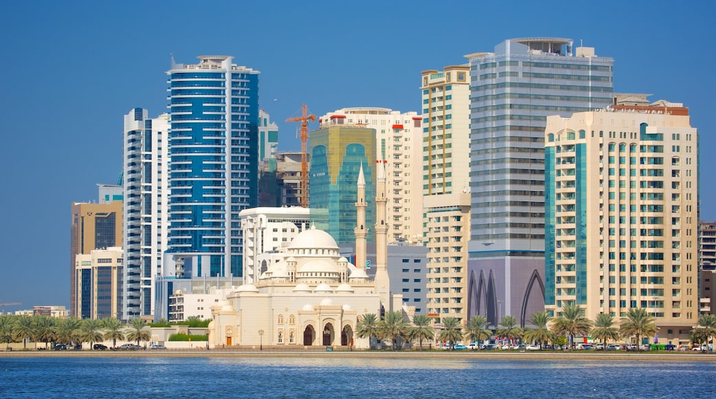 Sharjah which includes central business district and a high rise building
