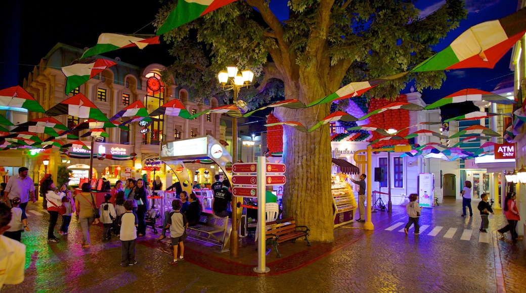 Centre commercial Dubai Mall mettant en vedette ville, scènes de nuit et vie nocturne