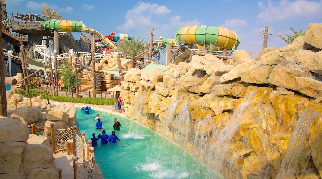 Yas Waterworld which includes a waterpark and a pool