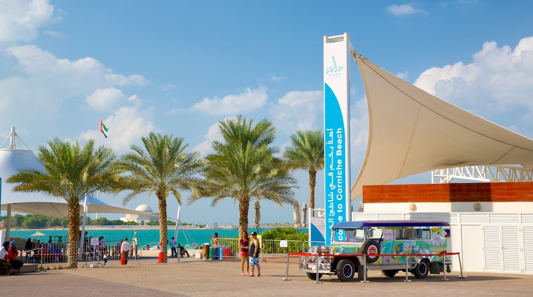 The Corniche featuring a coastal town