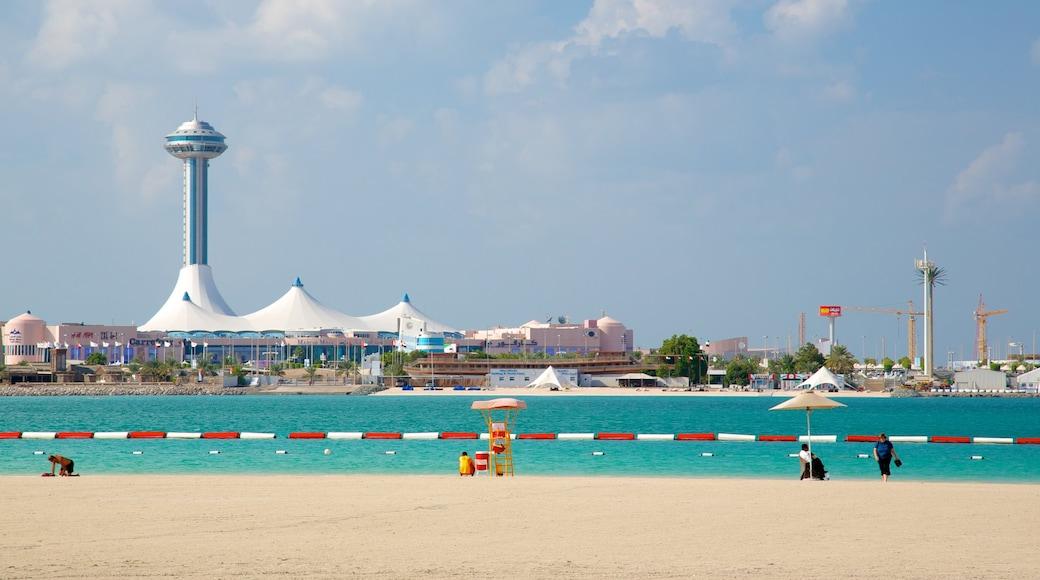 La Corniche montrant ville côtière, vues littorales et plage