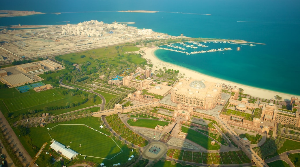 Abu Dhabi Emirate which includes a city and general coastal views