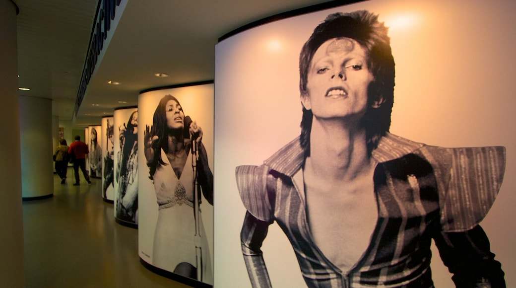 Rock and Roll Hall of Fame showing music and interior views