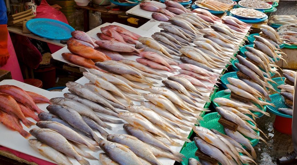 札嘎其魚市場 呈现出 市場 和 食物