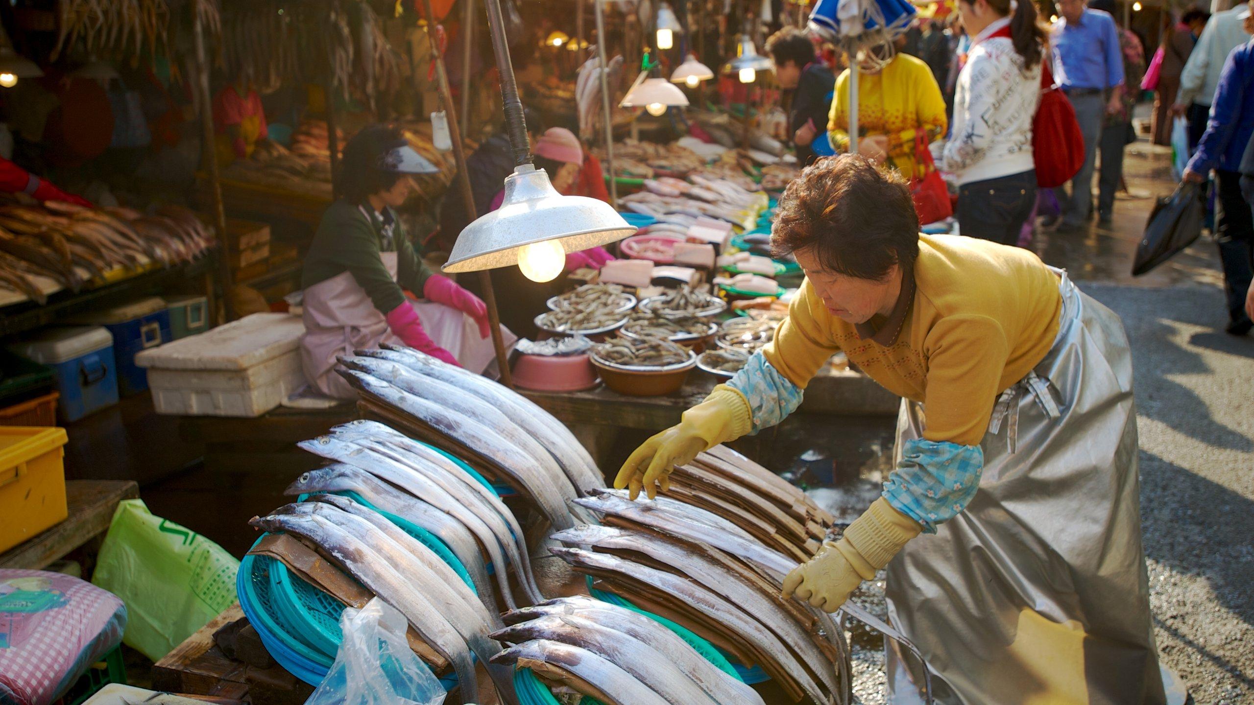 Jagalchi Fiskemarked, Busan, Sydkorea