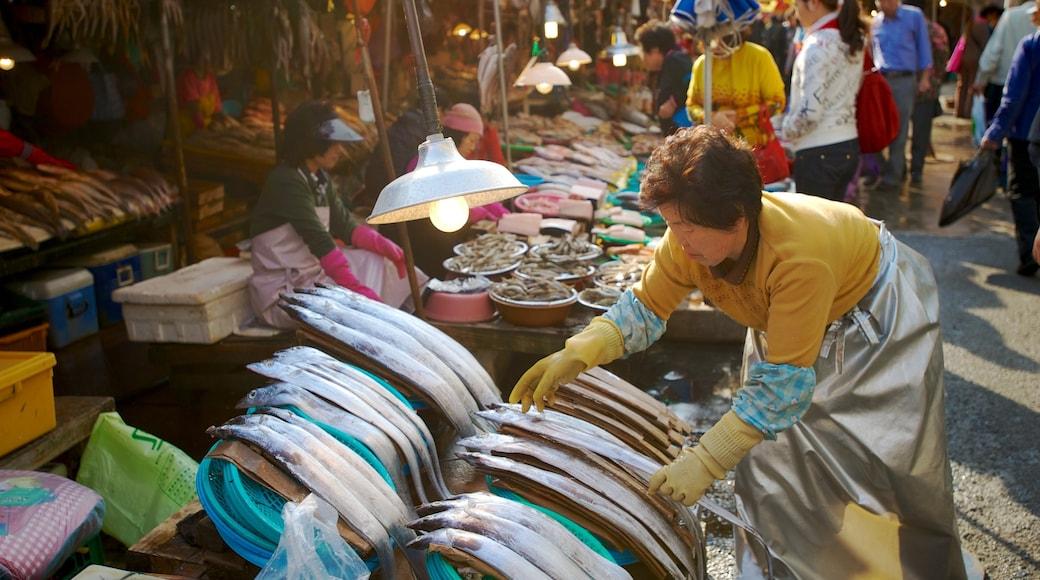 札嘎其魚市場 呈现出 食物 和 市場