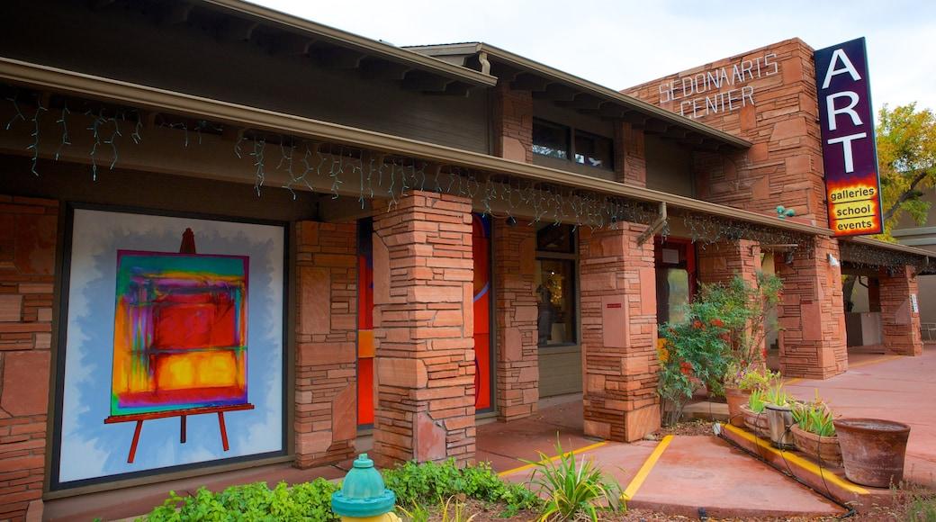 Sedona Art Center das einen Beschilderung