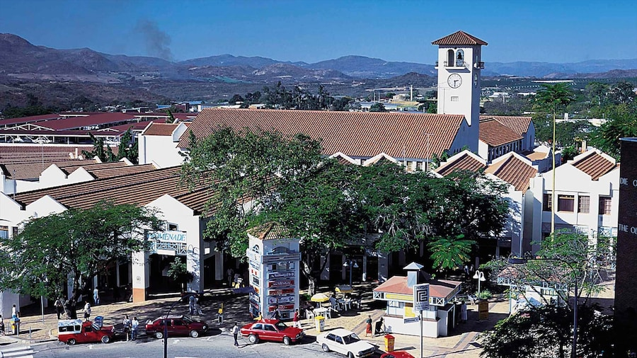 Nelspruit featuring a small town or village and shopping