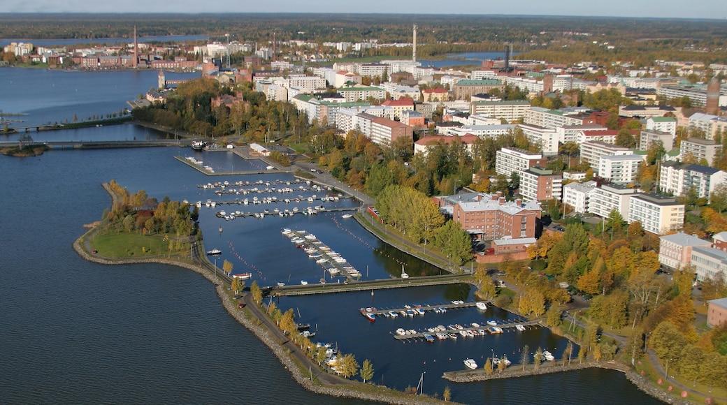 Vaasa featuring a coastal town, a river or creek and a marina