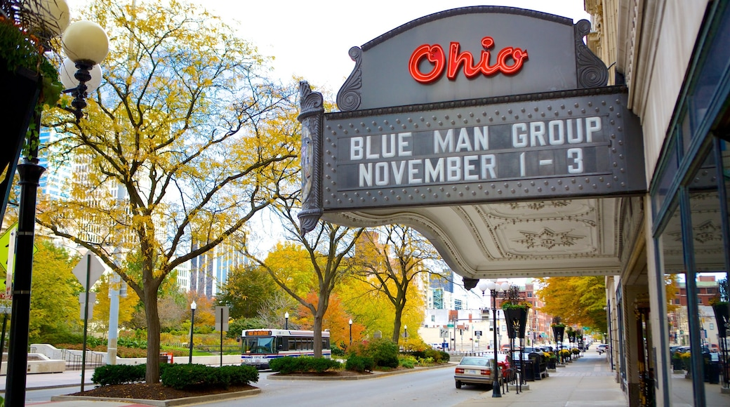 Ohio Theater which includes signage, theater scenes and a city