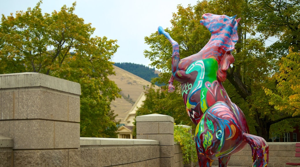 Missoula featuring outdoor art and a statue or sculpture