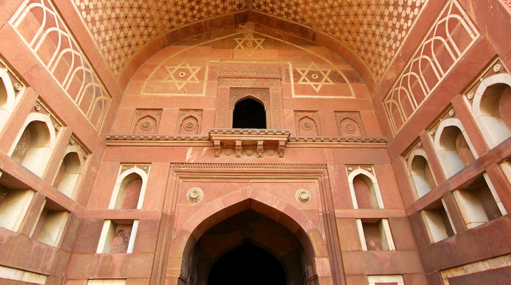 Agra Fort showing interior views and heritage architecture