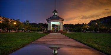 Newport News featuring a sunset and a garden