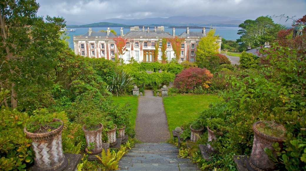 Bantry House and Garden featuring chateau or palace, heritage architecture and a garden