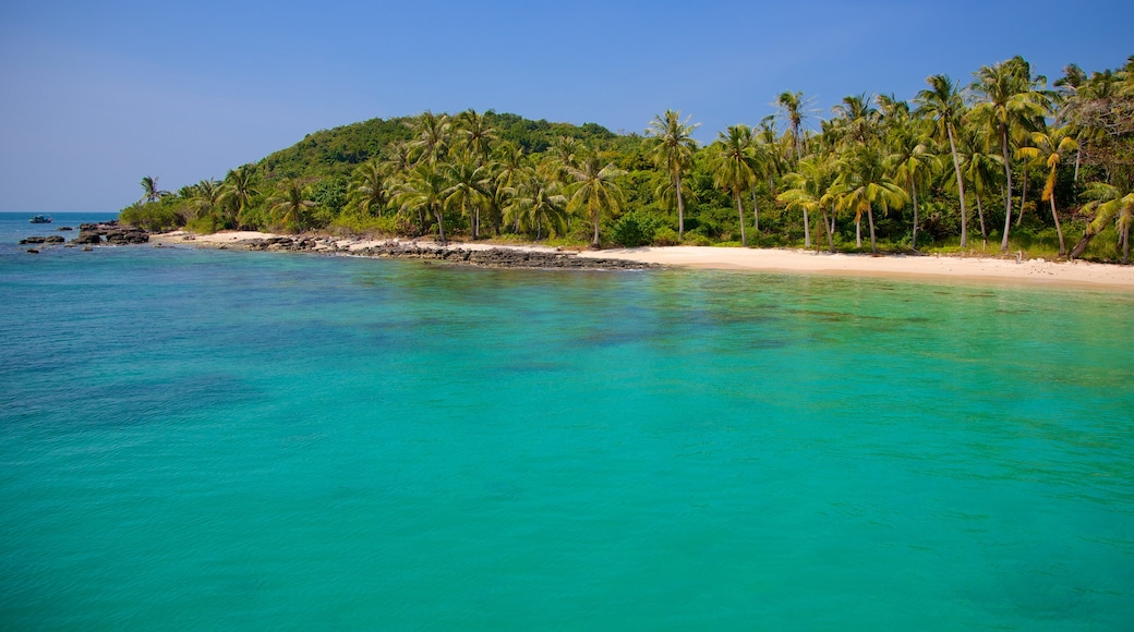 Phu Quoc showing general coastal views, tropical scenes and a sandy beach