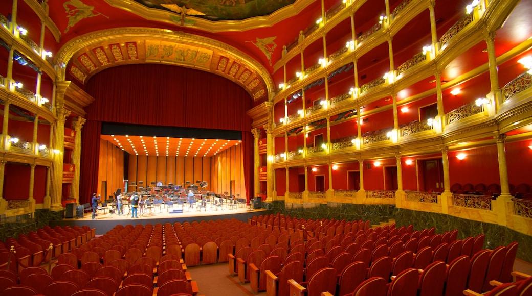 Degollado Theater which includes theater scenes and interior views