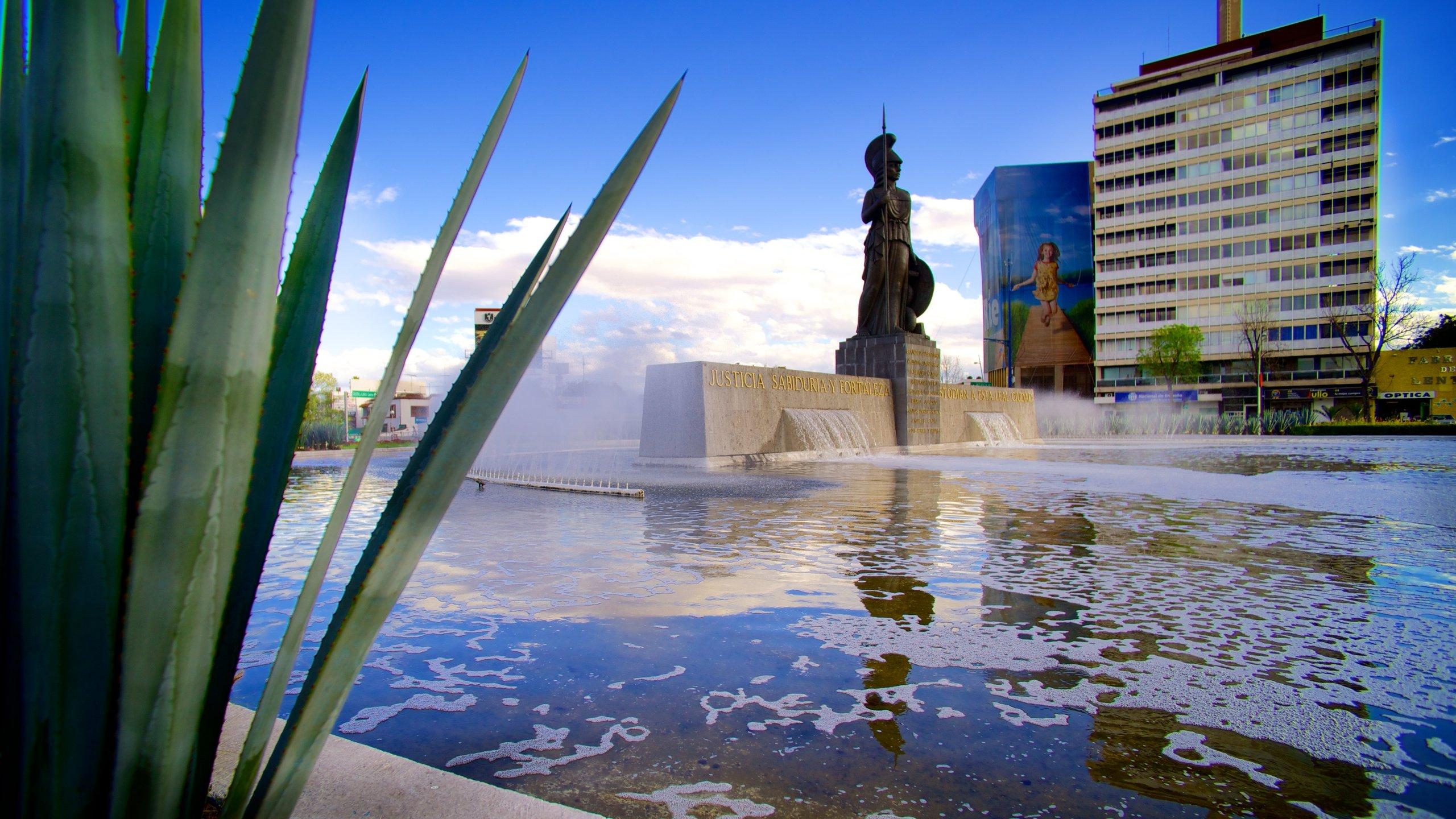 La Minerva es uno de los monumentos más famosos de Guadalajara.