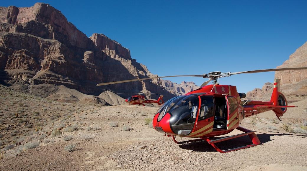 大峽谷 呈现出 航機 和 峽谷