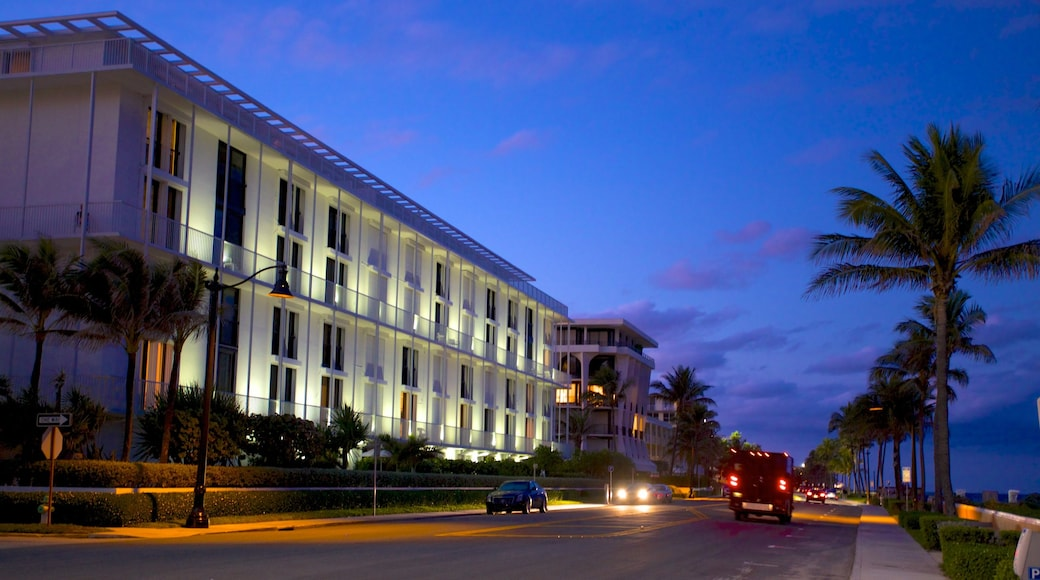 Palm Beach - West Palm Beach which includes street scenes, a coastal town and night scenes