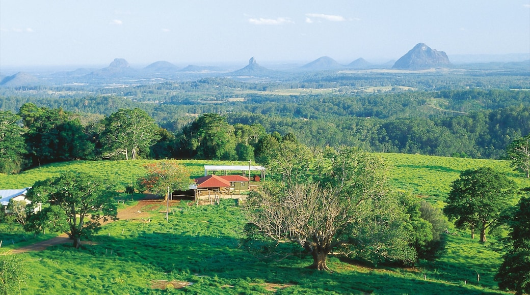 Maleny which includes tranquil scenes, landscape views and farmland
